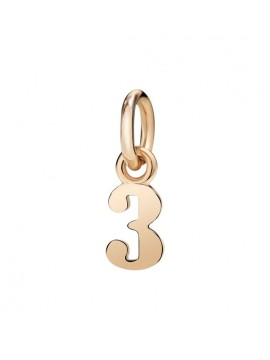 Dodo lattuca gioielli dodo number 3 charm in rose gold mozeypictures Image collections
