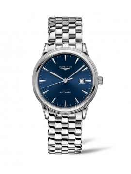 LONGINES FLAGSHIP AUTOMATIC WATCH IN STAINLESS STEEL AND BLUE DIAL