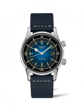LONGINES LEGEND DIVER WATCH AUTOMATIC WATCH IN STAINLESS STEEL AND BLUE STRAP