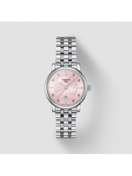 TISSOT CARSON PREMIUM LADY WATCH IN STAINLESS STEEL AND PINK MOTHER OF PEARL DIAL