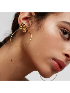 PDPAOLA BLOSSOM EARRINGS IN YELLOW GOLD PLATED SILVER