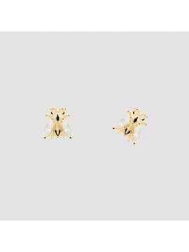 PDPAOLA BUZZ EARRINGS IN YELLOW GOLD PLATED SILVER