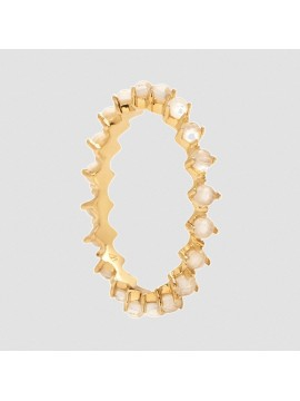 PDPAOLA LADY BIRD RING IN YELLOW GOLD PLATED SILVER