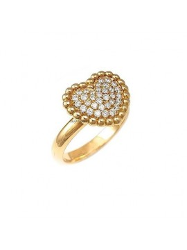CRIVELLI HEART RING IN ROSE GOLD AND WHITE DIAMONDS
