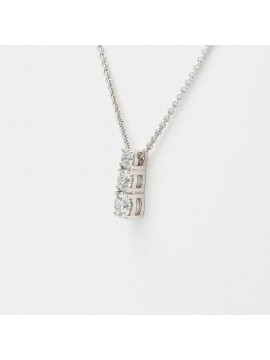 TRILOGY NECKLACE CRIVELLI IN WHITE GOLD AND WHITE DIAMONDS