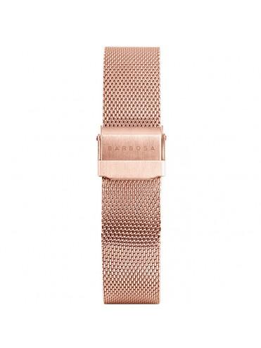 BARBOSA STRAP IN ROSE GOLD TONE STEEL MILAN MESH 18 MM