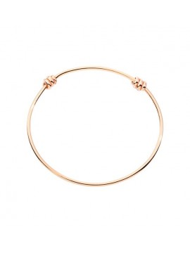 DODO BANGLE NODO BRACELET IN 9 KT ROSE GOLD WITH CONCEALED CLASP - M