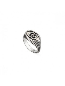 GUCCI RING GG MARMONT CHEVALIER WITH DOUBLE G IN SILVER 925 - 9 MM