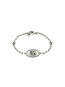 GUCCI GG MARMONT BRACELET IN SILVER WITH DOUBLE G