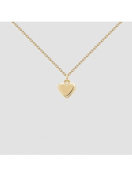 PDPAOLA L'ABSOLU ENGRAVE ME NECKLACE IN 925 SILVER GOLD PLATED 18 KT