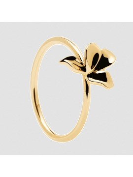 PDPAOLA NARCISE BLOSSOM RING IN SILVER 925 GOLD PLATED