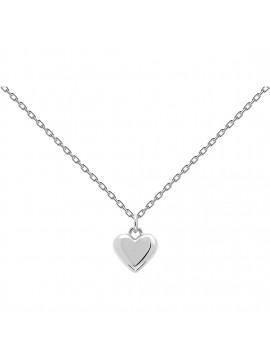 PDPAOLA L'ABSOLU ENGRAVE ME NECKLACE IN 925 STERLING SILVER WITH HEART