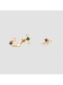 PDPAOLA ZODIAC SCORPION EARRINGS IN 925 GOLD PLATED SILVER AND HARD STONES