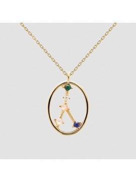 PDPAOLA ZODIAC CANCER NECKLACE IN 925 GOLD-PLATED SILVER AND HARD STONES