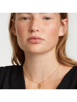 PDPAOLA ZODIAC TAURUS NECKLACE IN 925 GOLD PLATED SILVER AND HARD STONES