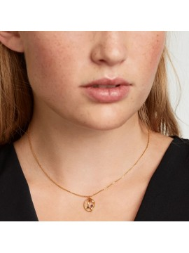 PDPAOLA ZODIAC GEMINI NECKLACE IN 925 GOLD PLATED SILVER AND HARD STONES