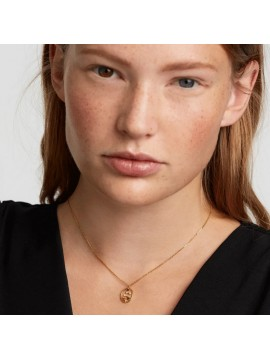 PDPAOLA VIRGO ZODIAC NECKLACE IN 925 GOLD PLATED SILVER AND HARD STONES