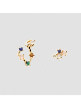 PDPAOLA ZODIAC PISCIS EARRINGS IN 925 GOLD-PLATED SILVER AND HARD STONES