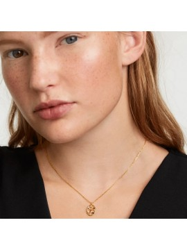 PDPAOLA SAGITARIUS ZODIAC NECKLACE IN 925 GOLD PLATED SILVER AND STONES