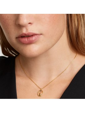 PDPAOLA ZODIAC SCORPIO NECKLACE IN 925 GOLD PLATED SILVER AND HARD STONES