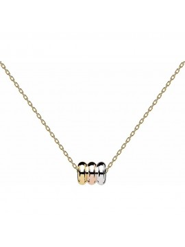 PDPAOLA TRILOGY NECKLACE IN 18K GOLD PLATED STEEL