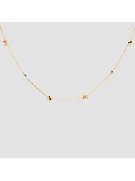 PDPAOLA NECKLACE LA PALETTE IN SILVER 925 18K GOLD PLATED WITH STONES VARIOUS COLORS