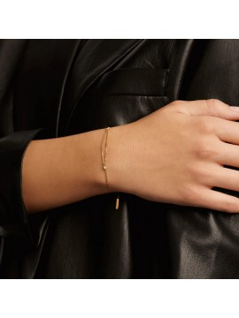PDPAOLA NIA BRACELET IN SILVER 925 GOLD PLATED WITH WHITE ZIRCONS