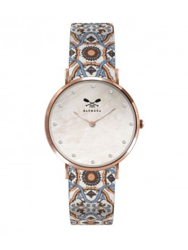 BARBOSA MOTHER OF PEARL WATCH WITH RHINESTONES AND ROSE DETAILS DM 36.5CM