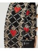 BARBOSA STRAP IN JACQUARD FABRIC SACRED HEART WITH ROSE DETAILS FOR WATCHES DM 36.5CM