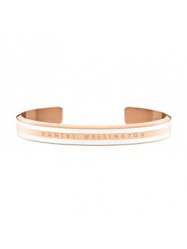 DANIEL WELLINGTON CLASSIC SATIN WHITE BRACELET IN STAINLESS STEEL ROSE GOLD TONE - MIS S