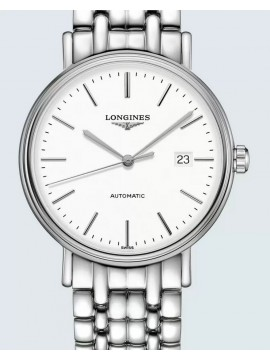 LONGINES PRESENCE AUTOMATIC WATCH IN STAINLESS STEEL WITH WHITE DIAL