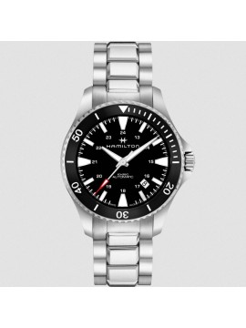 HAMILTON KHAKI NAVY SCUBA AUTOMATIC WATCH IN STAINLESS STEEL WITH BLACK DIAL