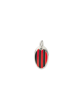 DODO MILAN PENDANT IN 925 SILVER AND RED AND BLACK ENAMEL