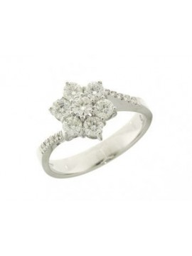 MIRCO VISCONTI FLOWER RING IN WHITE GOLD AND DIAMONDS