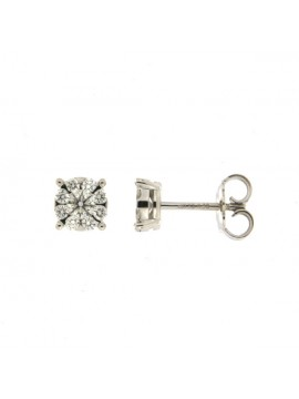MIRCO VISCONTI EARRINGS IN WHITE GOLD WITH DIAMONDS AB647 / 25