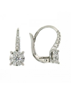 MIRCO VISCONTI EARRINGS IN WHITE GOLD WITH DIAMONDS AB712 / 10