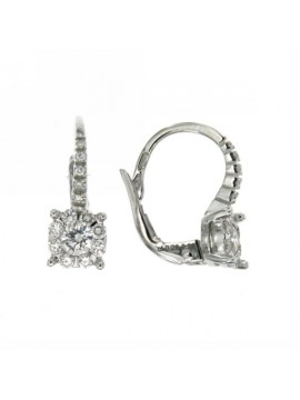 MIRCO VISCONTI EARRINGS IN WHITE GOLD WITH DIAMONDS AB712 / 22