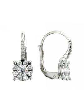 MIRCO VISCONTI EARRINGS IN WHITE GOLD WITH DIAMONDS AB712 / 25