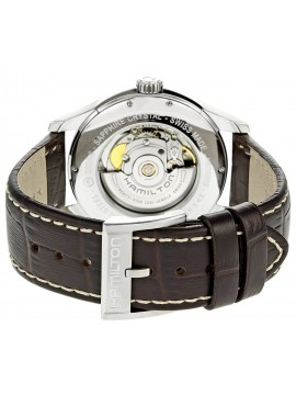 HAMILTON JAZZMASTER VIEWMATIC AUTOMATIC BROWN LEATHER STRAP WATCH