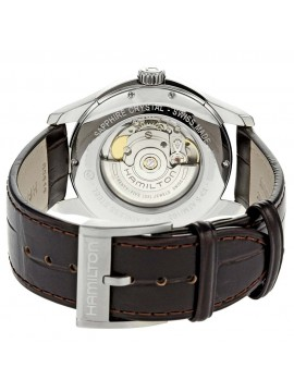Hamilton Jazzmaster Viewmatic Men's Automatic Watch with Brown Leather Strap