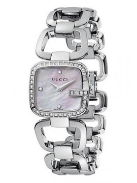 Gucci G-Gucci collection stainless steel , dial with 45 diamonds, small