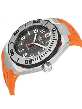 Hamilton Khaki Navy Sub Automatic Men's Watch with Orange Rubber Strap