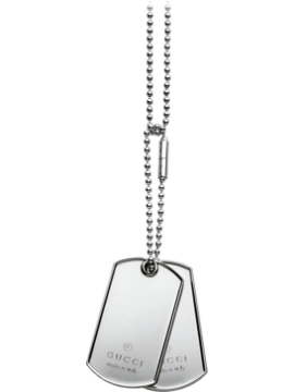 Gucci Collane Dog Tag argento con medaglie