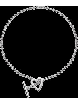 Gucci Collana Boule Heart Argento 925%