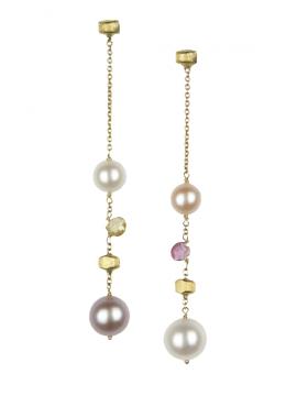 Marco Bicego orecchini Paradise oro, pietre e perle