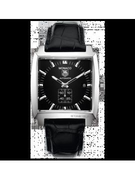 TAG Heuer orologio Monaco Calibro 6 automanico, 37mm, bracciale coccodrillo nero