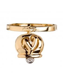 Chantecler anello Campanella oro giallo e diamante