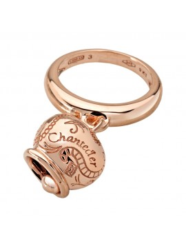 CHANTECLER ROSE GOLD RING MAXI BELL CHARM-CAMPANELLE