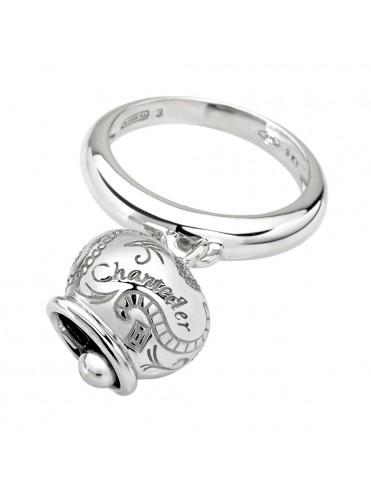 Chantecler anello Campanella oro bianco 9 kt gande
