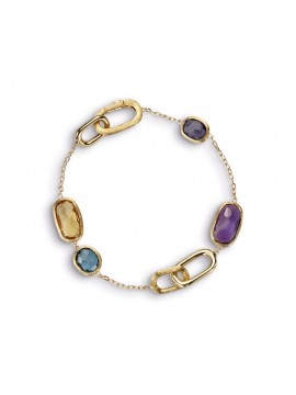 Marco Bicego Murano Yellow Gold and mixed Stone Bracelet